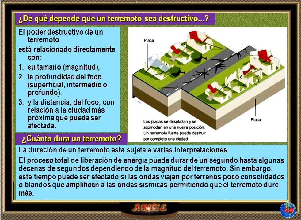 ¿Cuánto dura un terremoto