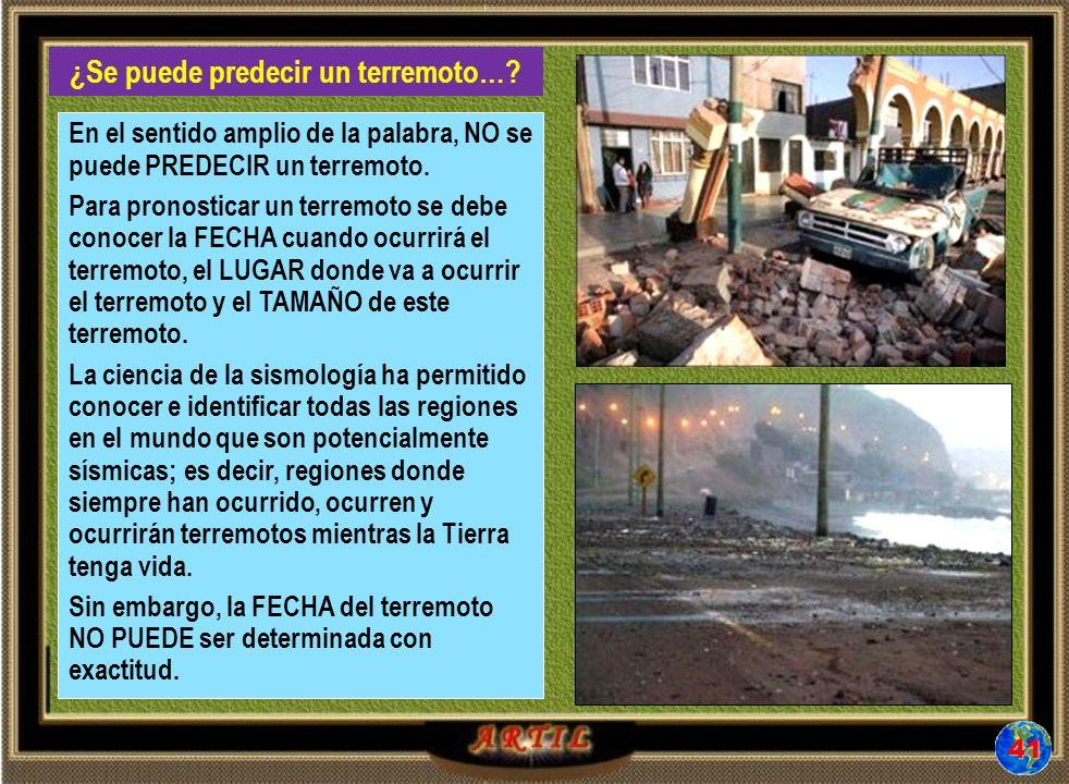 ¿Se puede predecir un terremoto…