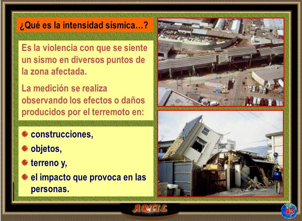 ¿Qué es la intensidad sísmica…
