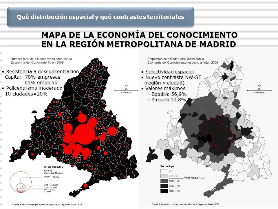 Qué distribución espacial y qué contrastes territoriales