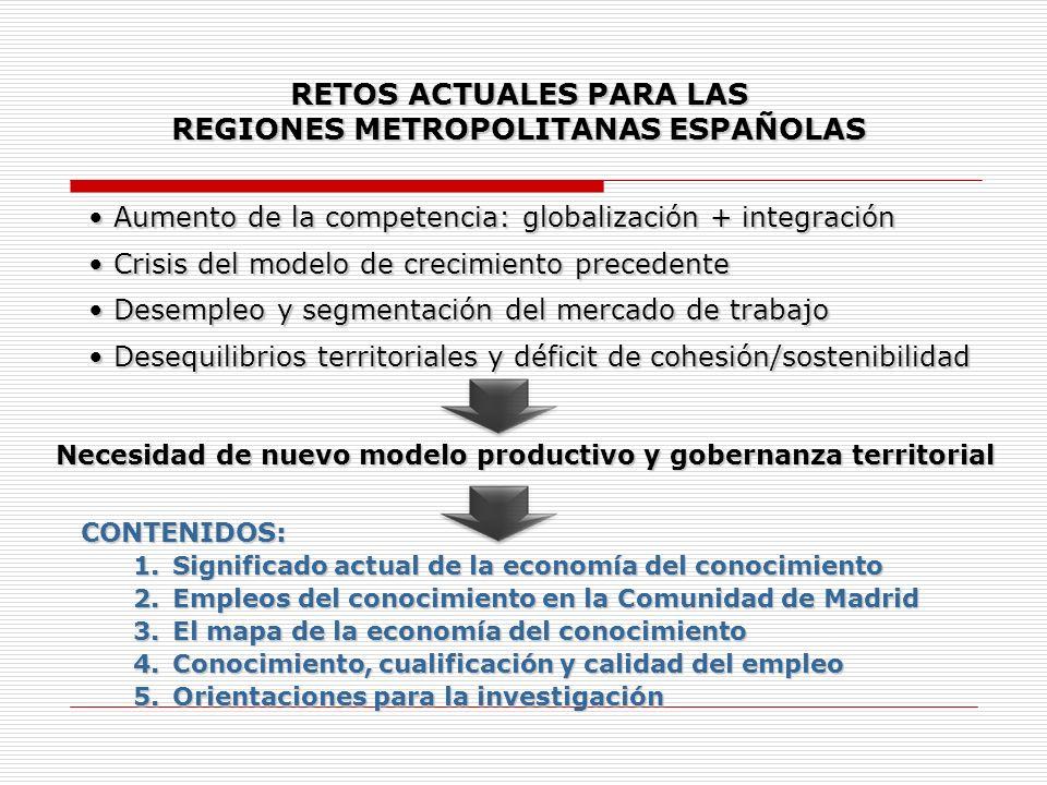 RETOS ACTUALES PARA LAS REGIONES METROPOLITANAS ESPAÑOLAS