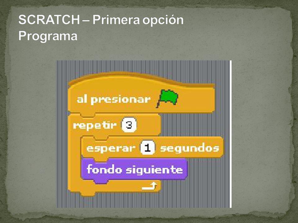 SCRATCH – Primera opción Programa