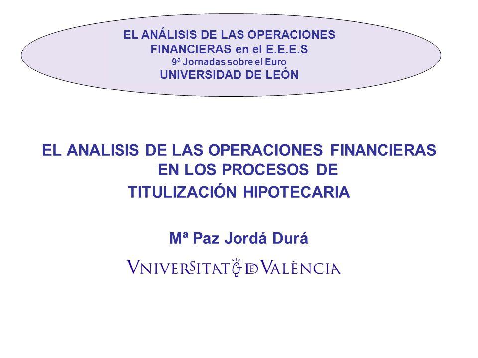 EL ANALISIS DE LAS OPERACIONES FINANCIERAS EN LOS PROCESOS DE