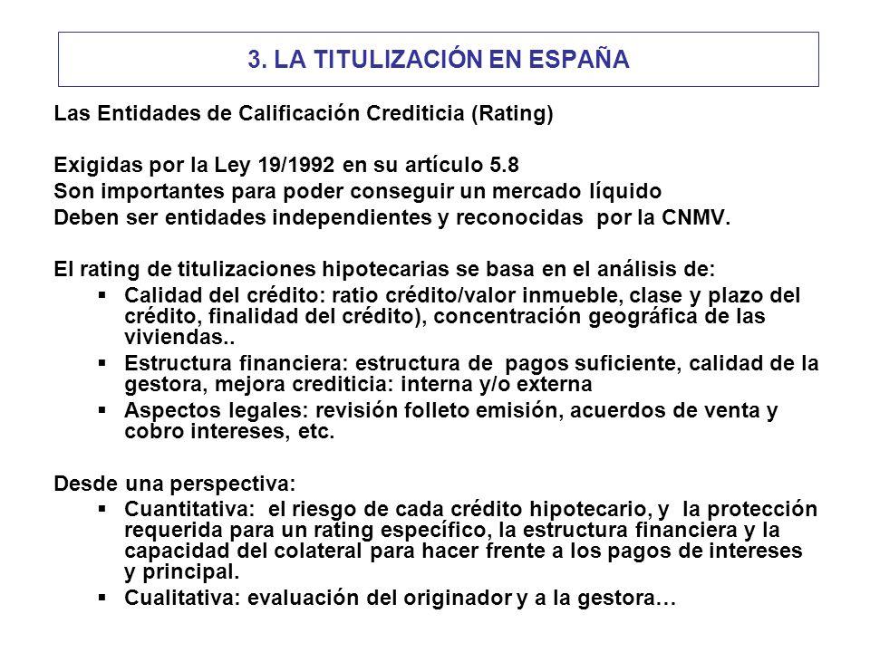 3. LA TITULIZACIÓN EN ESPAÑA