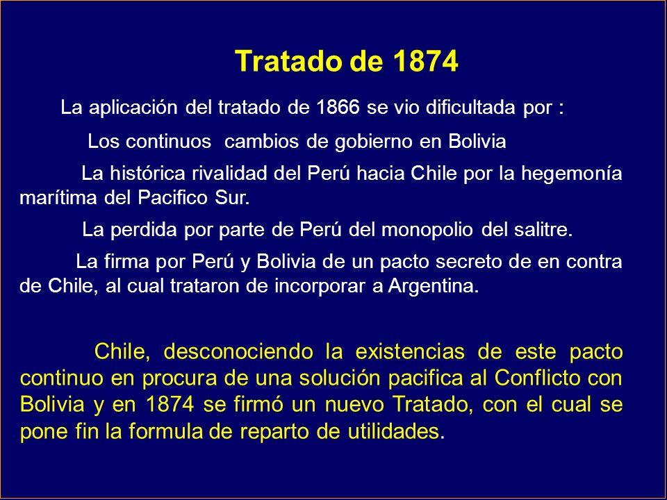La aplicación del tratado de 1866 se vio dificultada por :