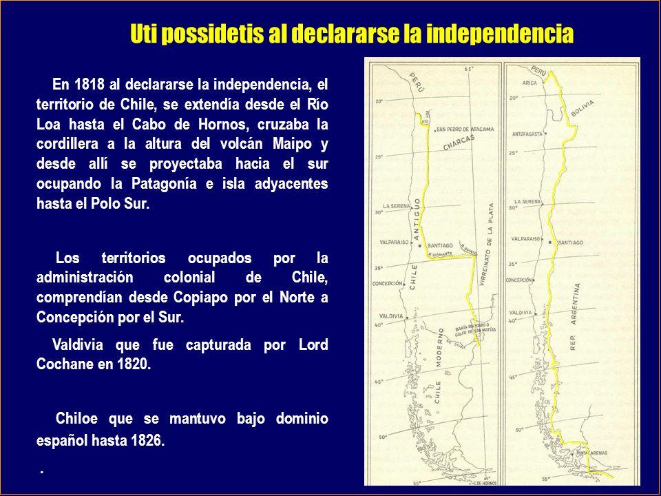 Uti possidetis al declararse la independencia