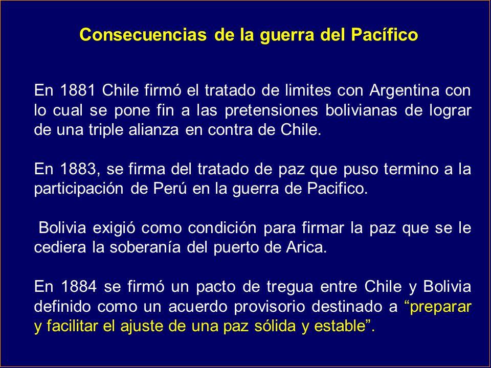 Consecuencias de la guerra del Pacífico
