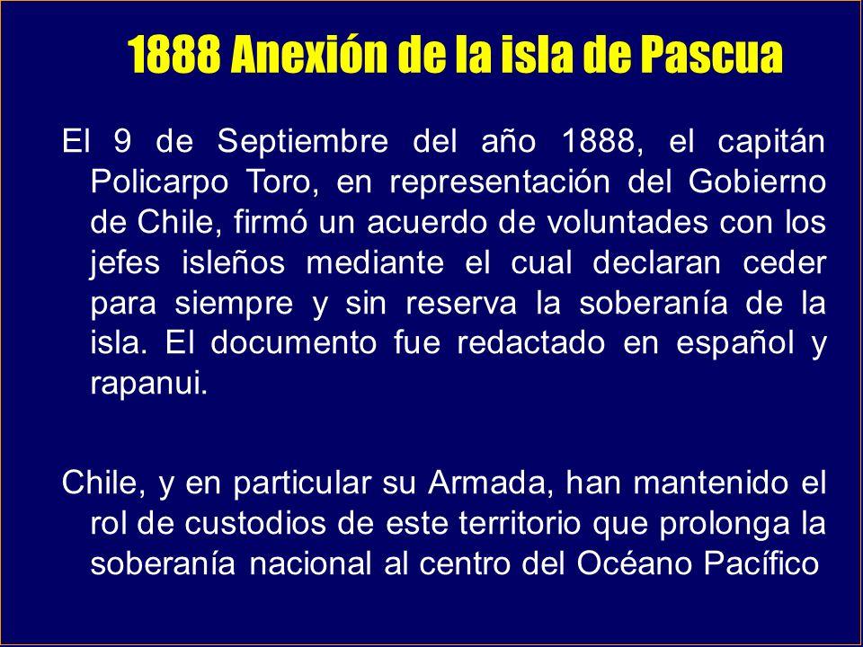 1888 Anexión de la isla de Pascua