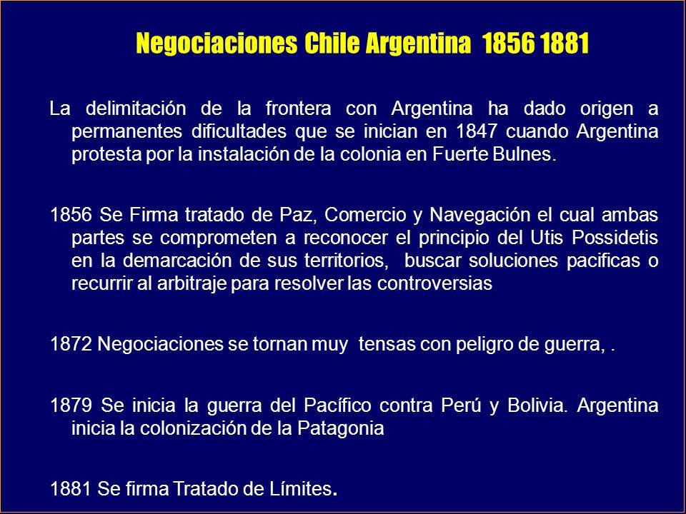 Negociaciones Chile Argentina 1856 1881