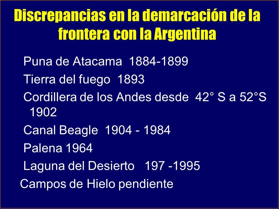 Discrepancias en la demarcación de la frontera con la Argentina