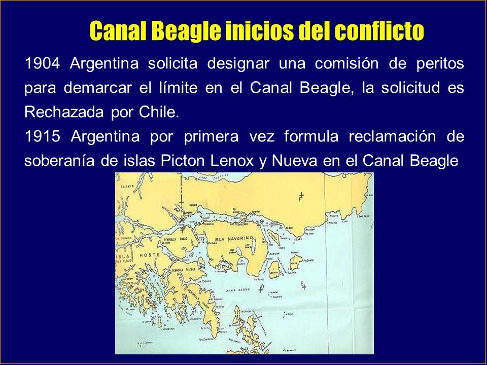 Canal Beagle inicios del conflicto