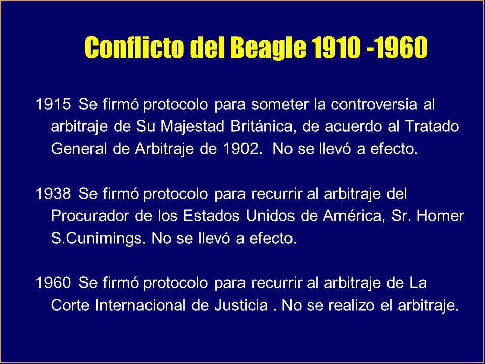 Conflicto del Beagle 1910 -1960