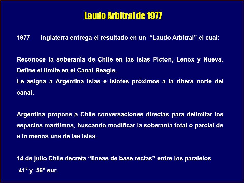 Laudo Arbitral de 1977 1977 Inglaterra entrega el resultado en un Laudo Arbitral el cual: