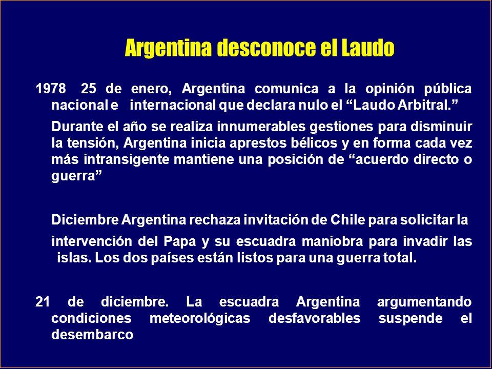 Argentina desconoce el Laudo