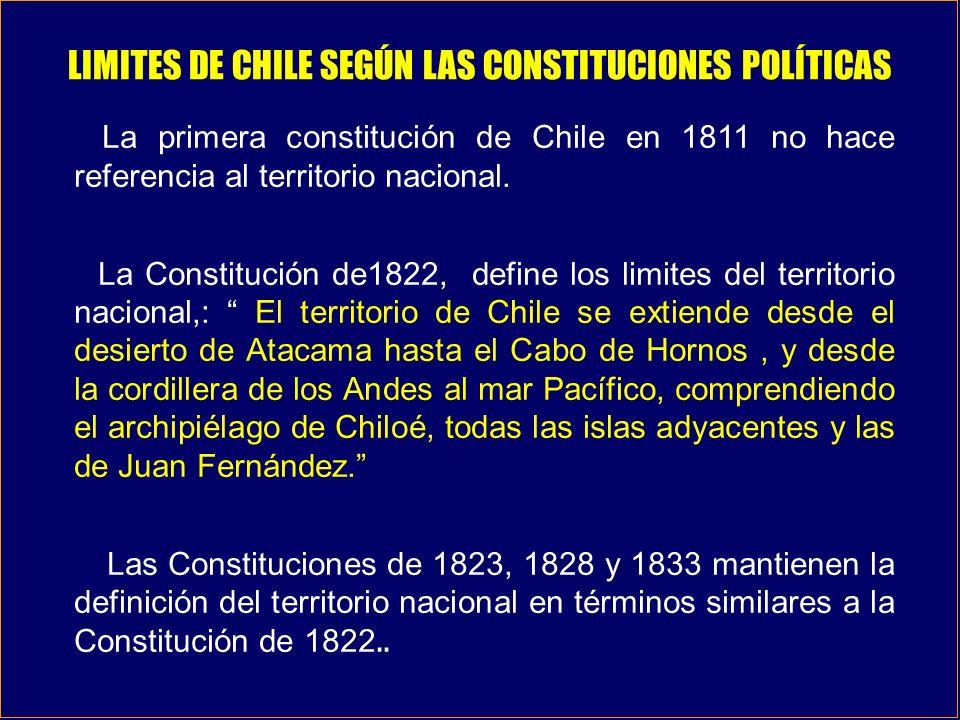 LIMITES DE CHILE SEGÚN LAS CONSTITUCIONES POLÍTICAS