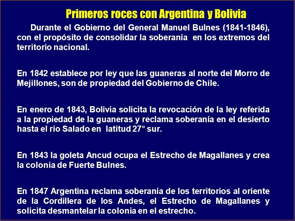 Primeros roces con Argentina y Bolivia