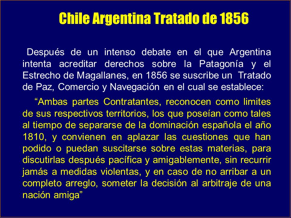 Chile Argentina Tratado de 1856