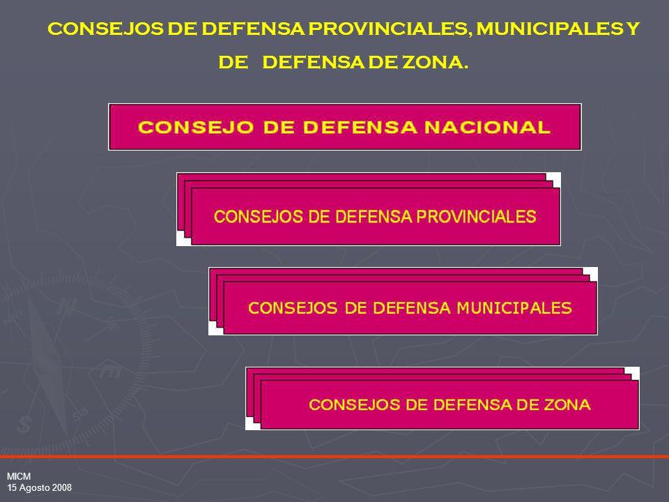 CONSEJOS DE DEFENSA PROVINCIALES, MUNICIPALES Y