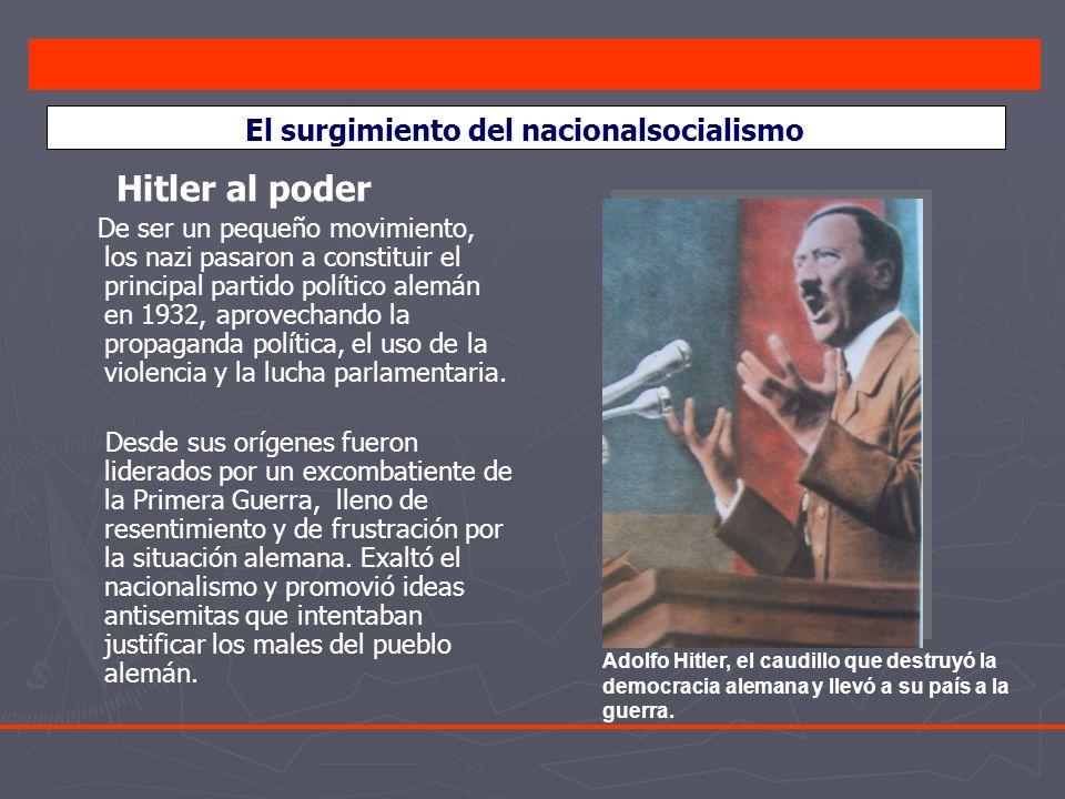El surgimiento del nacionalsocialismo
