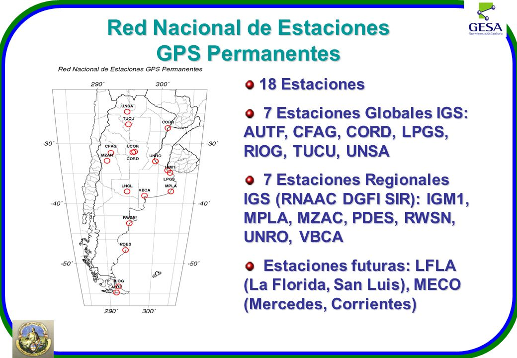 Red Nacional de Estaciones GPS Permanentes