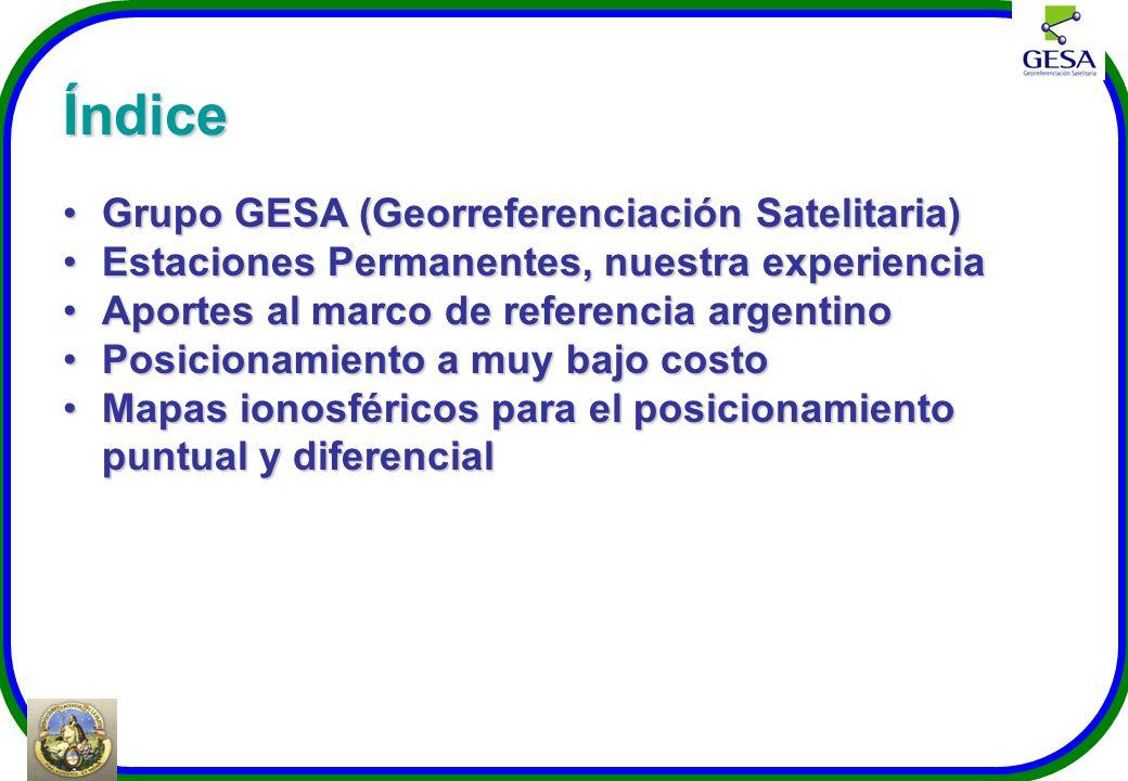 Índice Grupo GESA (Georreferenciación Satelitaria)