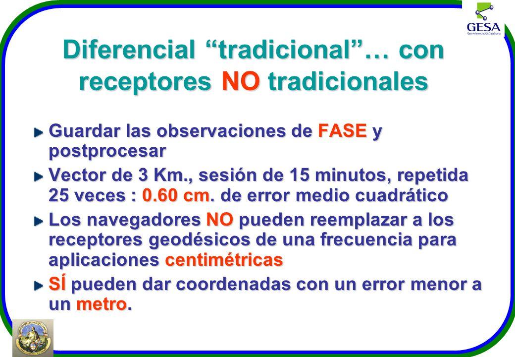 Diferencial tradicional … con receptores NO tradicionales
