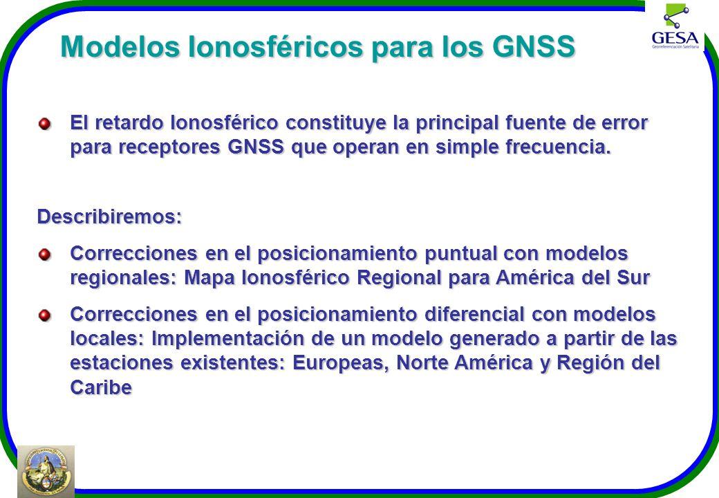 Modelos Ionosféricos para los GNSS