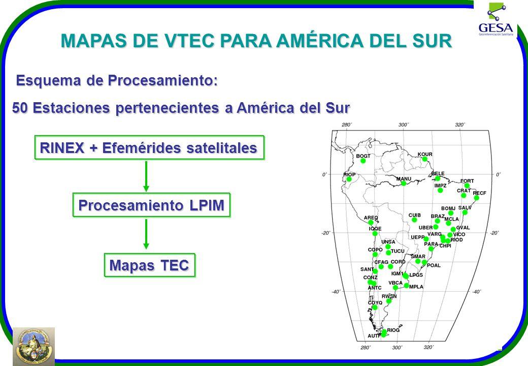 MAPAS DE VTEC PARA AMÉRICA DEL SUR