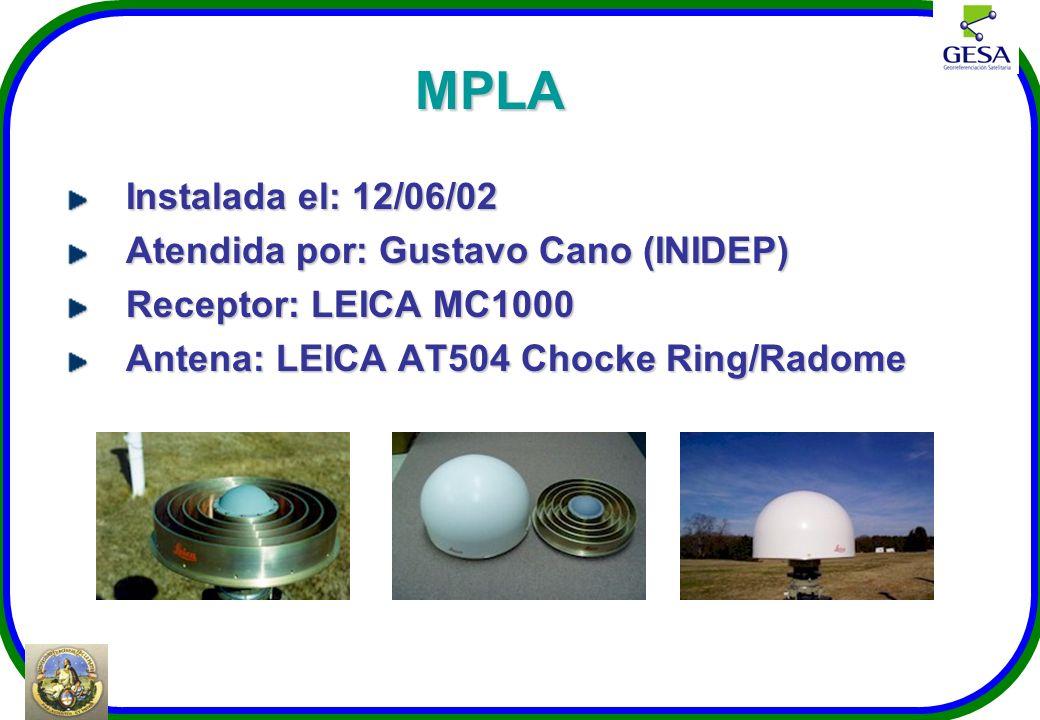 MPLA Instalada el: 12/06/02 Atendida por: Gustavo Cano (INIDEP)
