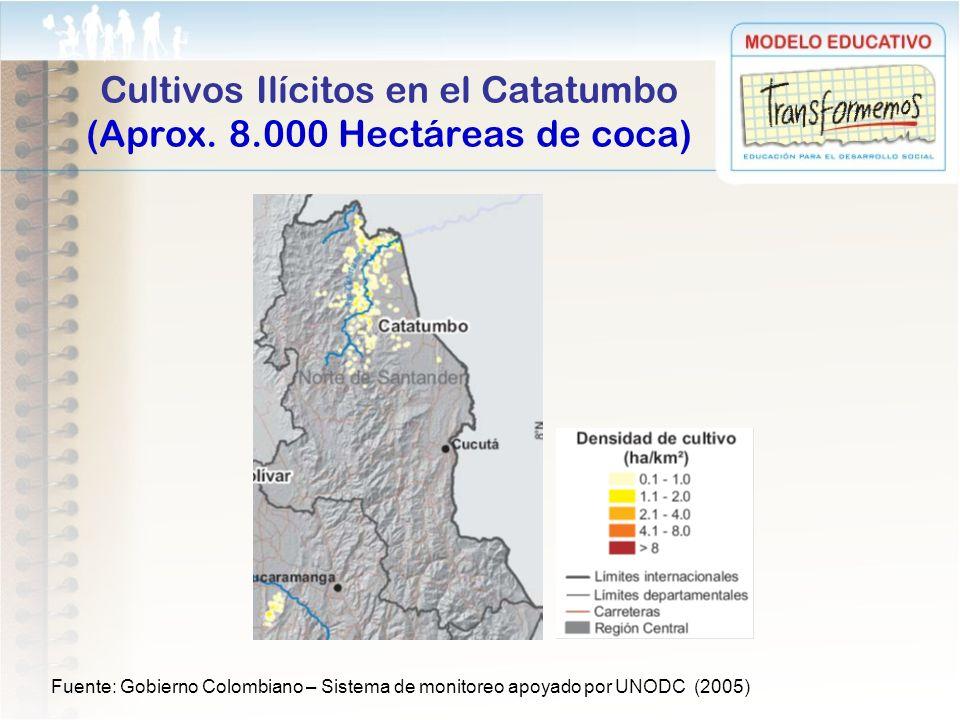 Cultivos Ilícitos en el Catatumbo (Aprox. 8.000 Hectáreas de coca)