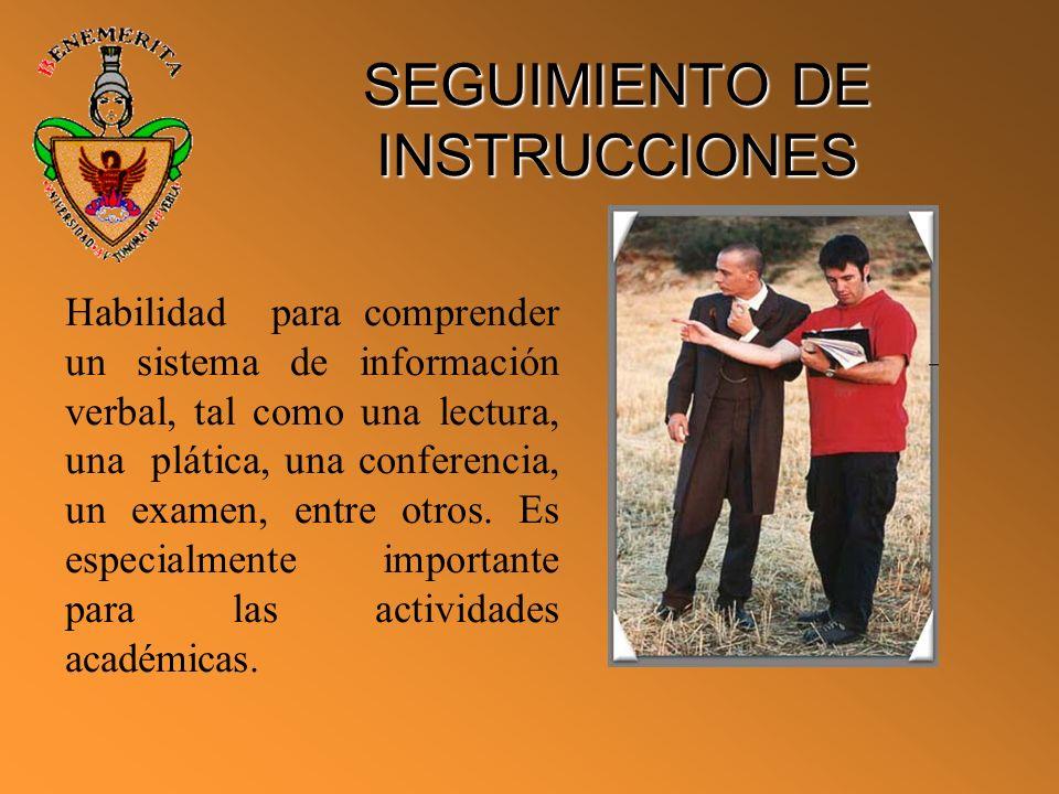 SEGUIMIENTO DE INSTRUCCIONES
