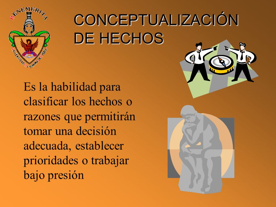 CONCEPTUALIZACIÓN DE HECHOS