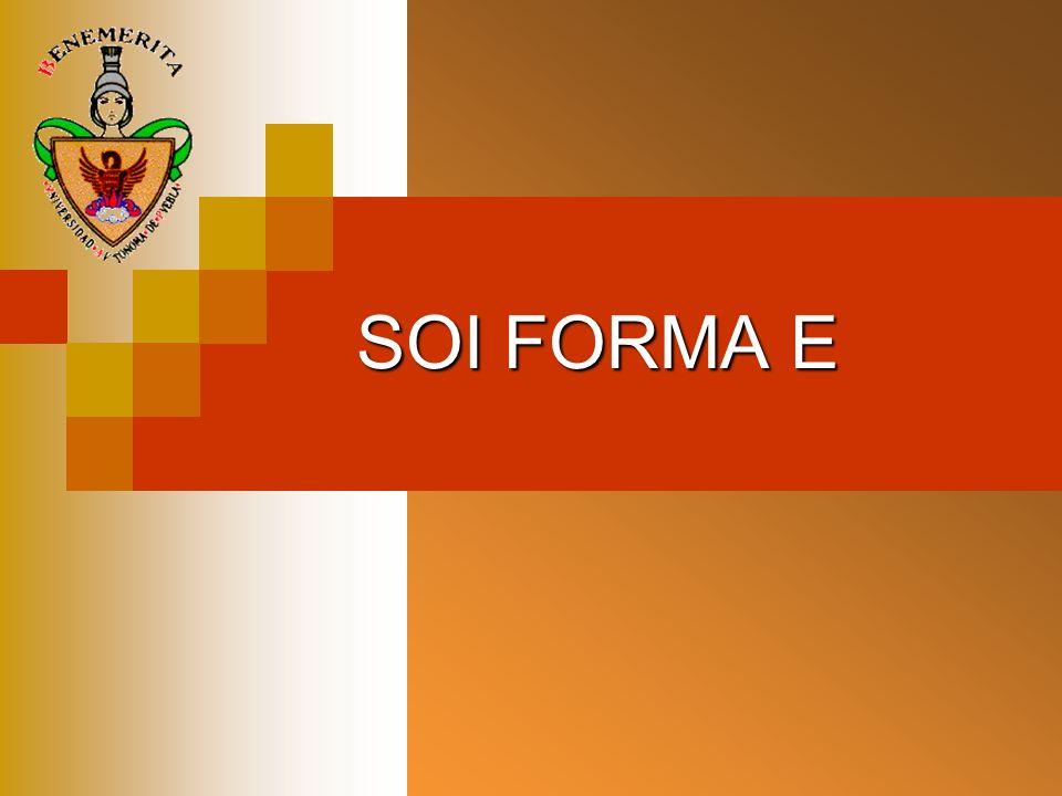 SOI FORMA E
