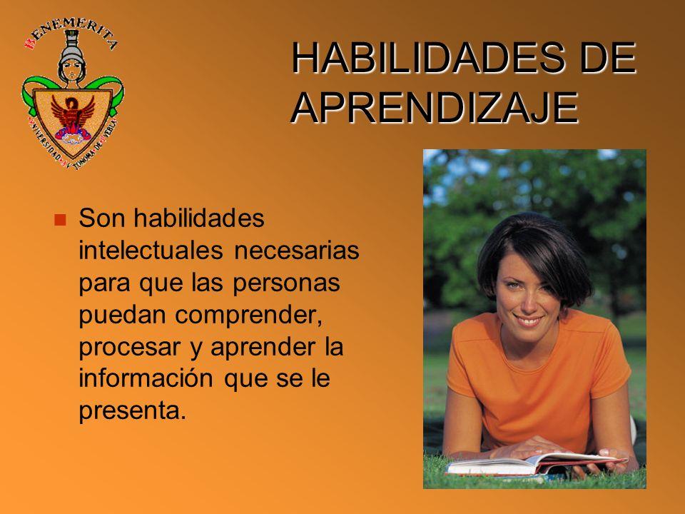 HABILIDADES DE APRENDIZAJE