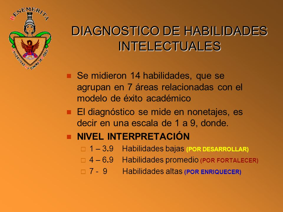DIAGNOSTICO DE HABILIDADES INTELECTUALES