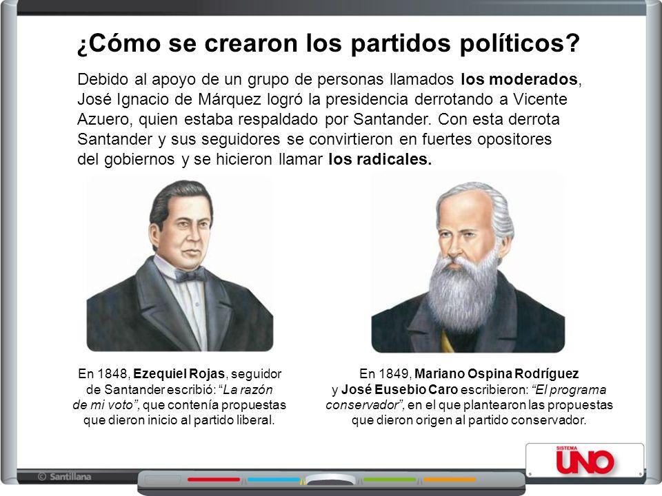 ¿Cómo se crearon los partidos políticos
