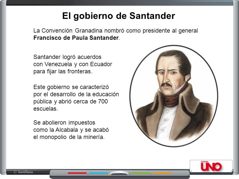 El gobierno de Santander