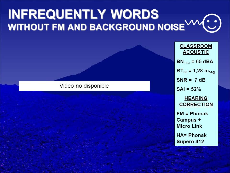 INFREQUENTLY WORDS WITHOUT FM AND BACKGROUND NOISE