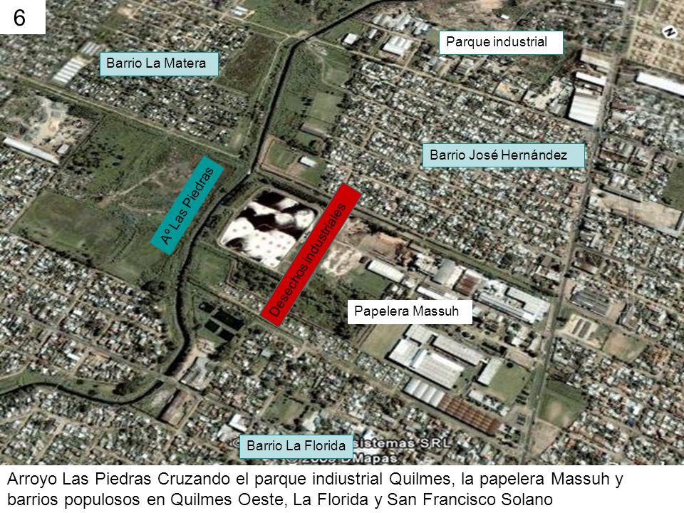 6 Parque industrial. Barrio La Matera. Barrio José Hernández. Aº Las Piedras. Desechos industriales.