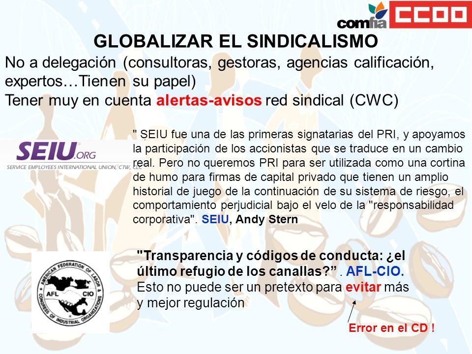 GLOBALIZAR EL SINDICALISMO