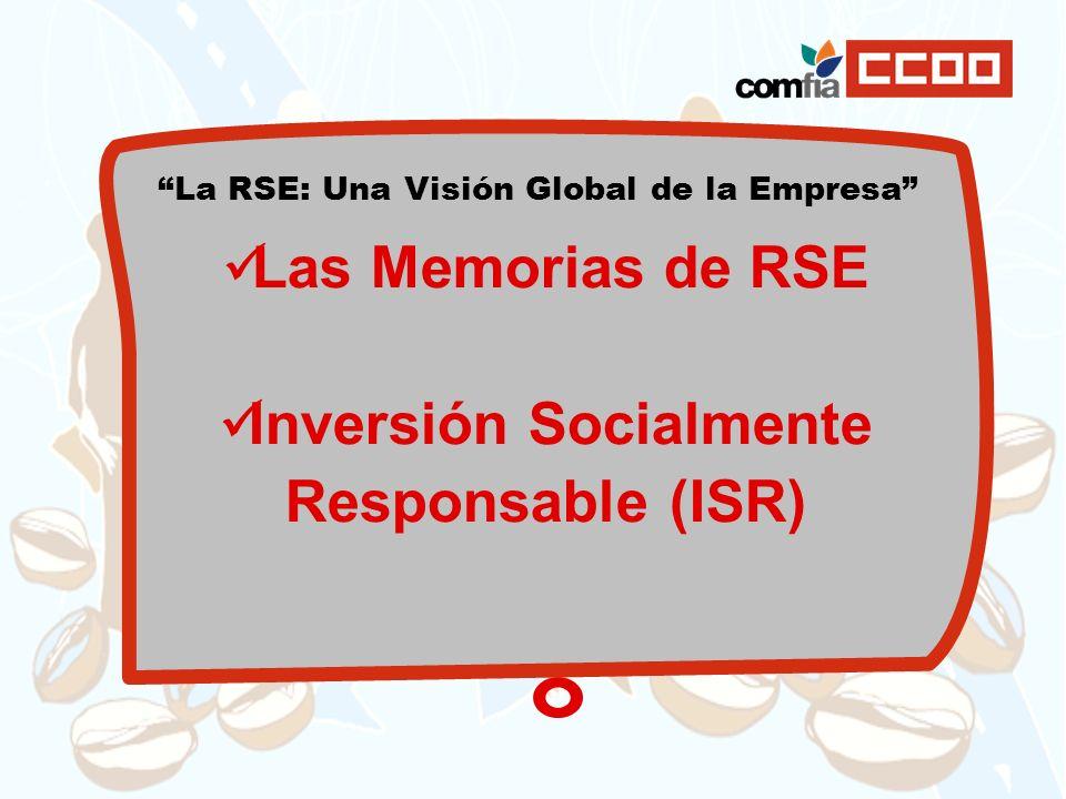 Inversión Socialmente Responsable (ISR)