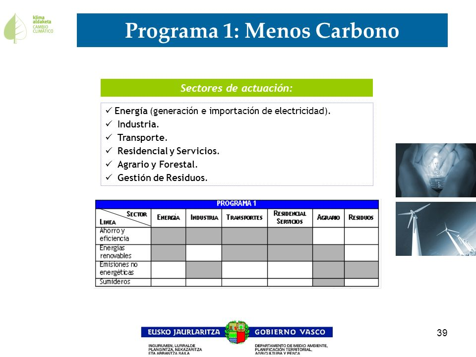 Programa 1: Menos Carbono