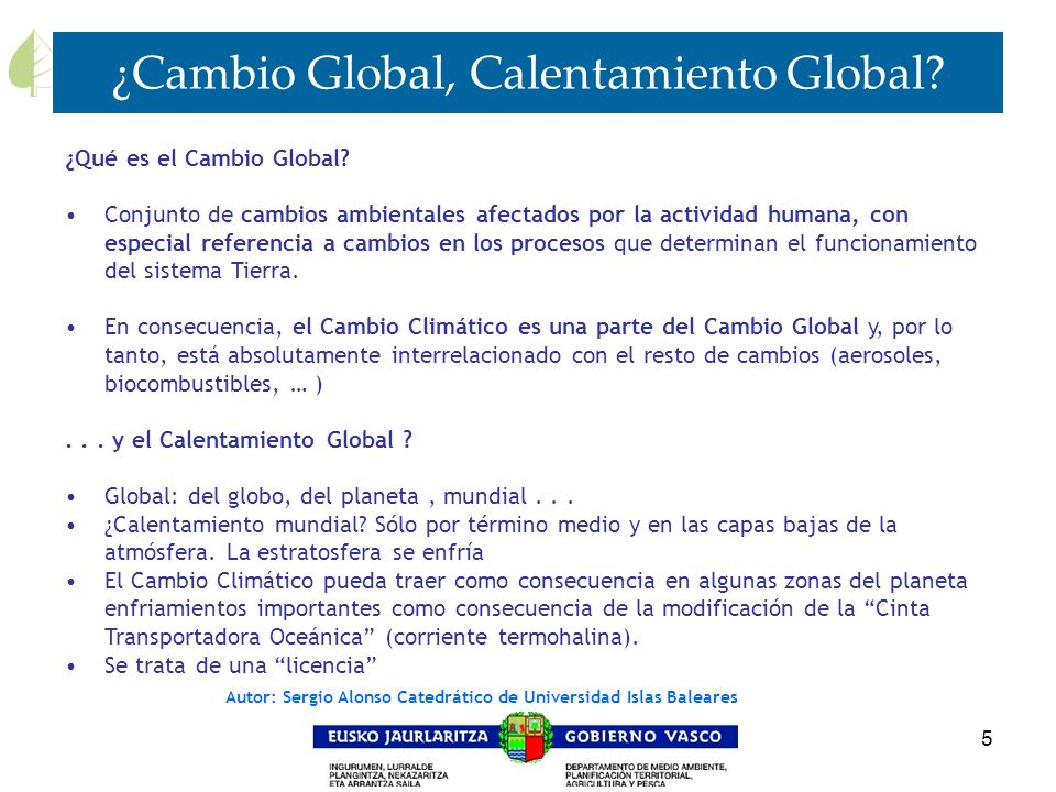 ¿Cambio Global, Calentamiento Global