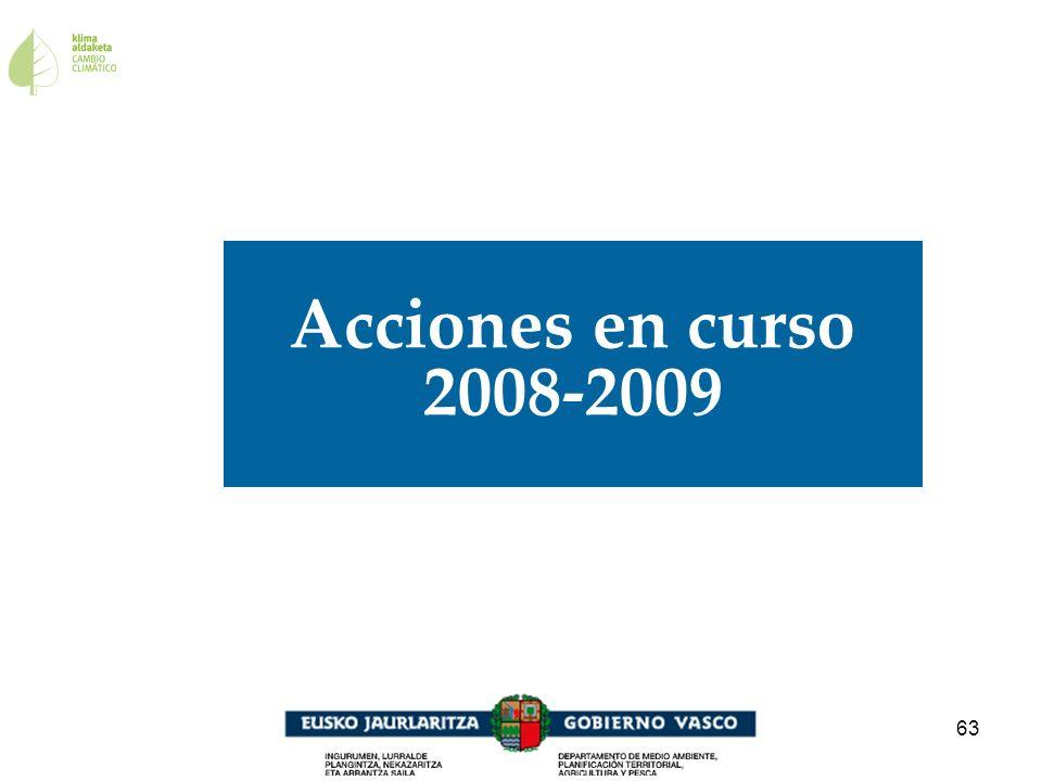 Acciones en curso 2008-2009