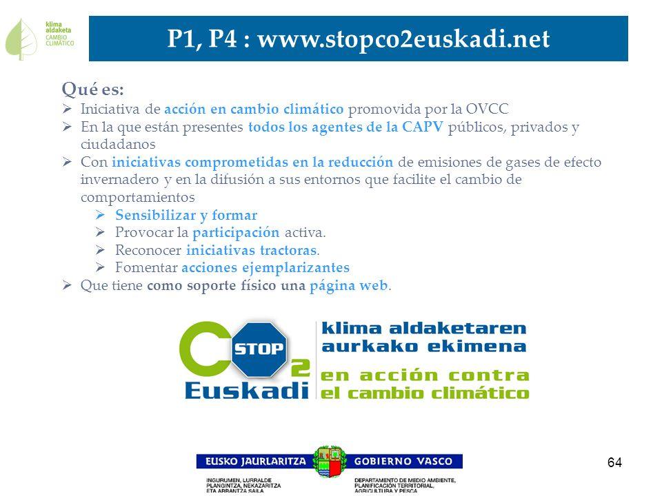 P1, P4 : www.stopco2euskadi.net