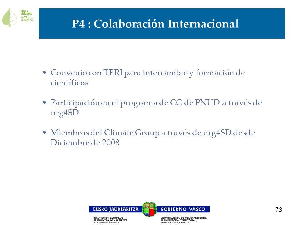 P4 : Colaboración Internacional