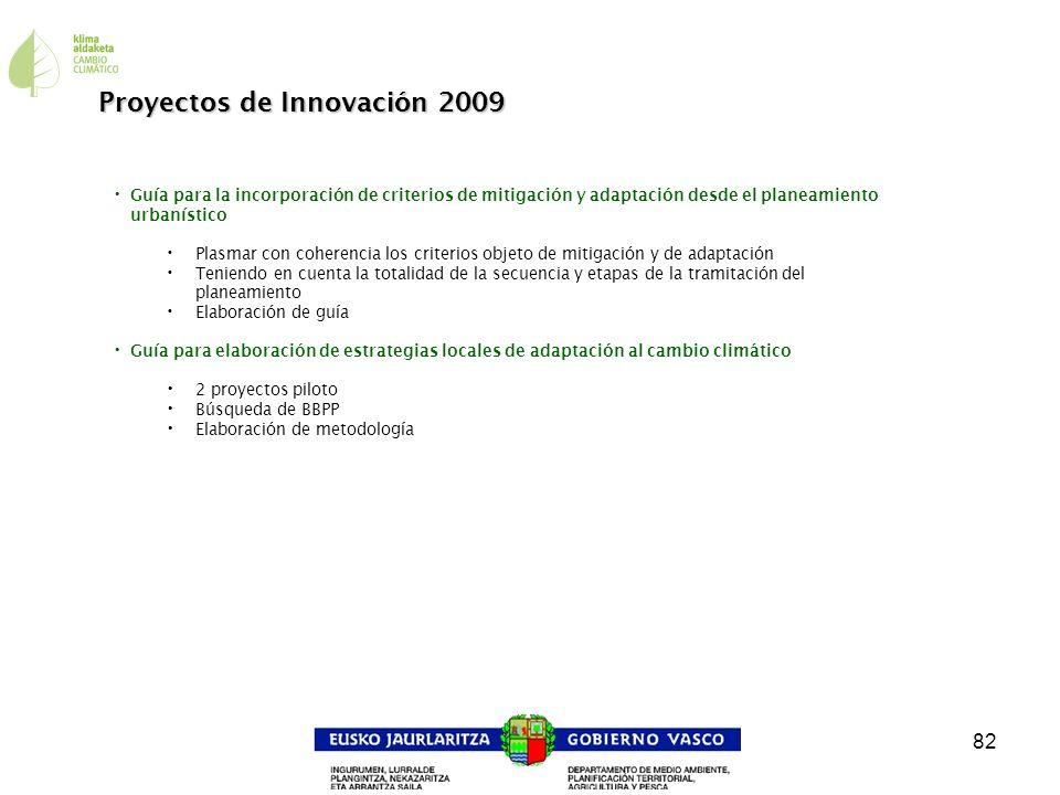 Proyectos de Innovación 2009