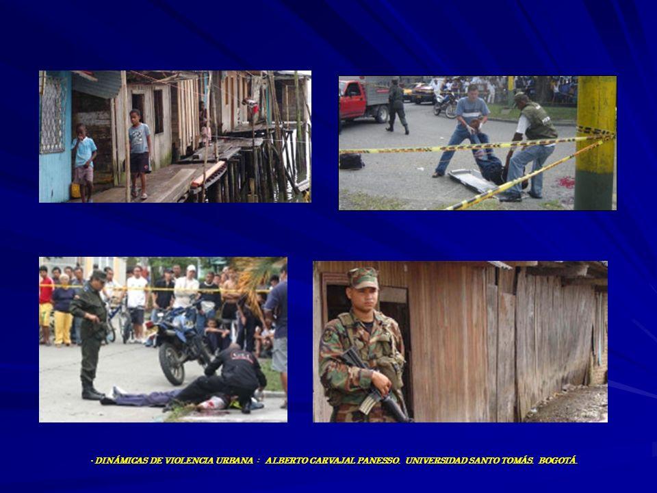 DINÁMICAS DE VIOLENCIA URBANA : ALBERTO CARVAJAL PANESSO