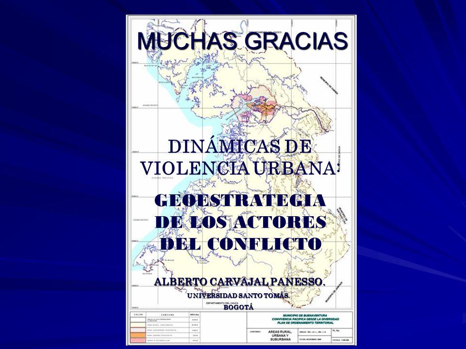 MUCHAS GRACIAS DINÁMICAS DE VIOLENCIA URBANA: