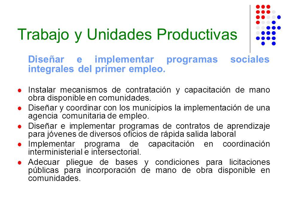 Trabajo y Unidades Productivas